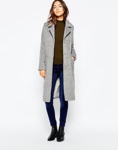Image 4 ofBrave Soul Double Breasted Fitted Coat