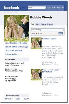 Click To Create This Invitation Facebook Birthday Invitations