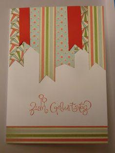 Geburtstagskarte mit Stampin up gestaltet