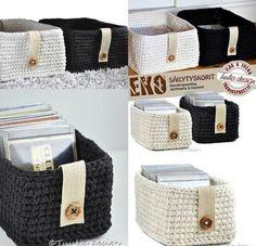 crochet baskets - no pattern Crochet Storage, Crochet Box, Love Crochet, Crochet Yarn, Crochet Baskets, Crochet Home Decor, Crochet Crafts, Yarn Projects, Crochet Projects