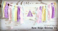 Teepee Birthday Banner Highchair High Chair Tee Pee Tribal Pastels Cake Smash Purple Camping Aztec First Pow Wow Wild One Boho Arrows Fabric Burlap Birthday Banners, Jack Daniels Fudge, Wooden Bar Table, Pastel Cakes, High Chair Banner, Yellow And Brown, Bag Storage, Girl Birthday, Garlands