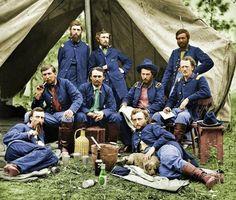 Los soldados de La Unión tomando un descanso, 1863