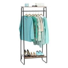 Luggage Rack Target Captivating Whitmor Slat Wood Garment Rack Black  Garment Racks Target And Woods Inspiration