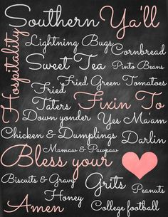 Free Chalkboard Subway Art Templates | Southern Chalkboard Subway Art Free Printable