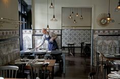 Comedor de la Taberna La Carmencita, en Madrid