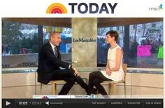 Les Mis (2012)   TODAY Show (NBC): Anne Hathaway (Fantine) discusses her role in the highly anticipated film version of Les Miserables, the creative ways she prepared for her role and learning from her mother, who previously played the same part. [VIDEO 05:43]