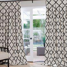 Brown and White Trellis Curtains | REGULAR PRICE: SALE PRICE: (Expires 3|28)