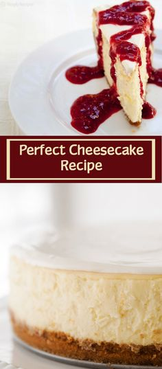Say hello to your new favorite cheesecake recipe! This is a classic New York cheesecake, baked in the oven. A water bath, plus lots of tips and guidance, help you make the best, silkiest, creamiest cheesecake EVER. #cheesecake #cheesecakerecipe #recipe #dessert #dessertrecipe