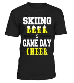 """# Skiing beer game day cheer funny t-shirt .  Special Offer, not available in shops      Comes in a variety of styles and colours      Buy yours now before it is too late!      Secured payment via Visa / Mastercard / Amex / PayPal      How to place an order            Choose the model from the drop-down menu      Click on """"Buy it now""""      Choose the size and the quantity      Add your delivery address and bank details      And that's it!      Tags: skiing, oles, skis, ross-country ski…"""