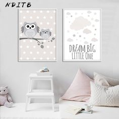 Woodland Animal Owl Canvas Poster Nursery Print Minimalist Wall Art Painting Nordic Kids Decoration Pictures Baby Room Decor Owl Canvas, Elephant Canvas, Canvas Wall Art, Canvas Poster, Baby Canvas, Poster Print, Baby Room Wall Art, Baby Room Decor, Baby Rooms