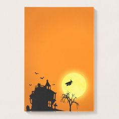 Halloween Silhouette Landscape - Post-it® Notes - Halloween happyhalloween festival party holiday