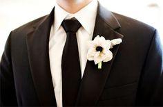 love the clean black tie look