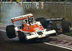 James Hunt 'the shunt', Zandvoort 1977, McLaren M26... Incident with Mario Andretti (Lotus 78)