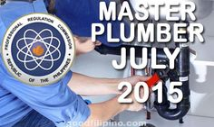 July 2015 Master Plumber Board Exam Results, PRC List of Passers (July Board Exam Result, Exam Results, Announcement, Boards, Planks