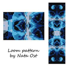 """Beading Loom Pattern Bracelet """"Tranquillity"""" Seed Bead Cuff Instant Download"""
