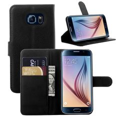 S6 Edge Luxury Wallet Leather Case For Samsung Galaxy S6 Edge G9250 Stand Style Phone Bag Cover With Photo Slot