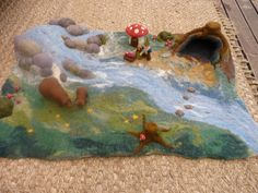 The wet/needle-felted playscape my sister and I made as a fundraiser for our Steiner kindy. www.facebook.com/nobelsteed