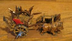 Carruaje orco de perfil. Orcish chariot. Mantic. Kings of war