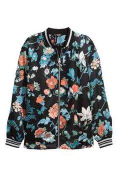 Jachetă de aviator din satin