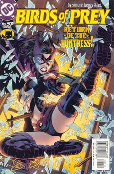 Huntress and The Birds of Prey (Daughter of Catwoman and Batman) Cover art by Ed Benes and inks by Alex Lei. Comic Book Pages, Comic Book Covers, Comic Books Art, Comic Art, Batgirl, Catwoman, Caricature, Dc Comics Characters, Batman Family