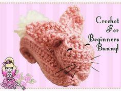 Crochet Tutorial for Beginners: Pink Bunny Rabbit (Reupload!) - Violet LeBeaux - YouTube