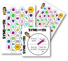 Un jeu pour travailler sur le repérage des axes de symétrie dans les figures usuelles: le symé-tri. Règle du jeu : Tous les joueurs placent leur pion sur la case «départ». …