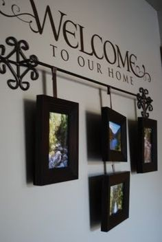 Art The Ironstone Nest: Welcome to Our Home - alternative way to hang photos...I…