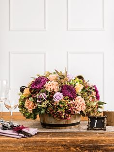 PRESS: Boston Weddings – Spring/Summer 2015 | Centerpiece by Blooms of Hope | Photograph by David Bradley