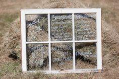 Handmade Wedding Program window pane DIY
