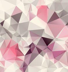Pink Geometric Background Design Vector