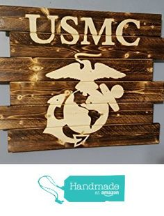 United States Marine Corps Rustic Wall Art from Carolina Pallet Designs…