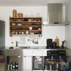サンワカンパニーのある暮らし|サンワカンパニー Kitchen Dinning, Dining Room, Kitchen Cabinets, Kitchen Appliances, Home Design Plans, Interior Design Kitchen, Kitchen Organization, Home Kitchens, Sweet Home