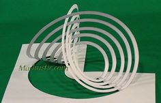 3D paper geometric figures