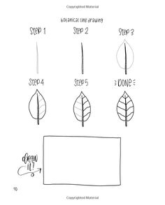 Botanical Line Drawing: 200 Step-by-Step Flowers, Leaves, Cacti, Succulents, and Other Items Found in Nature: Peggy Dean: 9780998558523: AmazonSmile: Books