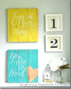 super cute DIY wall decor - cute for a rustic look or even a nursery decor idea!