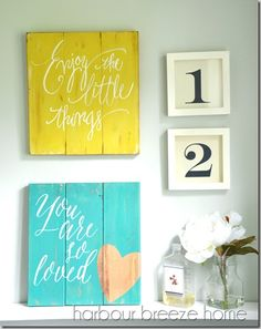 super cute DIY wall decor - cute for a rustic look or even a nursery decor idea!