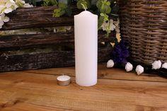 Κεριά Κυλινδρικά Λευκά Φ6x20εκ Pillar Candles, Taper Candles