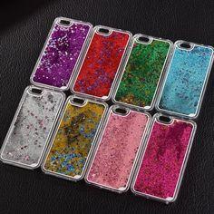 Liquid Glitter Transparent Hard Mobile Phone Cases For iphone 4, 4s/5, 5s/6, 6s, 6plus/7, 7plus