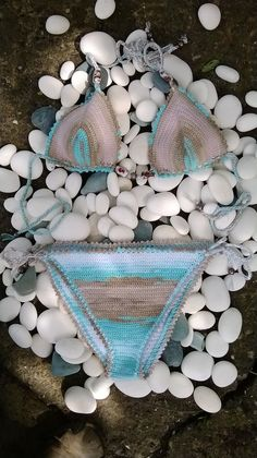 Crochet Bikini Crochet Triangle Bikini by GoodMoodCreations, $59.00