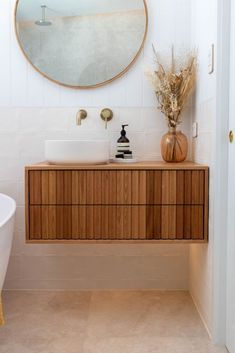 Why do an ordinary bathroom renovation when you can step things up and do a luxe bathroom reno? ACT Renovations share their latest Hamptons bathroom Boho Bathroom, Bathroom Renos, Bathroom Renovations, Modern Bathroom, Master Bathroom, Bathroom Ideas, Downstairs Bathroom, Bathroom Inspo, Bathroom Designs