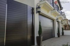 Give your home a unique feel with contemporary or modern garage doors. Custom-built garage doors from Tungsten Royce, schedule a free appointment today! Contemporary Garage Doors, Modern Garage Doors, Garage Door Styles, Garage Door Design, Modern Contemporary, Side Gates, Entry Gates, Black Garage Doors, Garage Gate