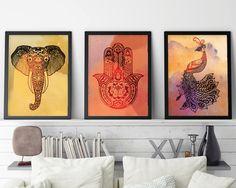 Set of 3 Prints, Zen Print, Zen Art, Yoga Prints, Yoga Art, Yoga Print Set, Buddhist Set of 3, Zen Wall Art, Boho Art, Hamsa, Elephant, Bird by UrbanEpiphanyPrints on Etsy https://www.etsy.com/listing/248420260/set-of-3-prints-zen-print-zen-art-yoga