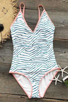 Cupshe Season Of Beach One-piece Swimsuit