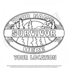 survivor logo | survivor Colouring Pages