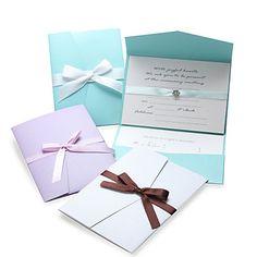 Papel Perla Classic invitación de la boda y tarjetas de la respuesta con arco - Set de 12 (más colores) - USD $ 19.99
