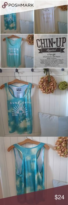 BUNDLE of Workout Tank Tops Trio of super cute & comfy workout tank tops. All are a size XL and have a racerback design. Constructed from a polyester rayon blend which makes them silky smooth & soft.  These are NWT and are in perfect condition. Chin Up Apparel Tops Tank Tops