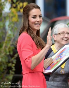 Kate: From Berkshire to Buckingham : Kate Wears Goat Sheath Dress For Visit to Blessed Sacrament School in Aid of M-PACT Plus