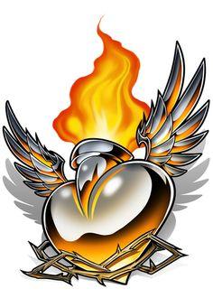 37 Ideas for wolf skull tattoo designs Tattoo Set, Tattoo Life, Pitbull, Desenho New School, Tattoo Studio, Koi, Sacred Heart Tattoos, Heart With Wings, Heart Tattoo Designs