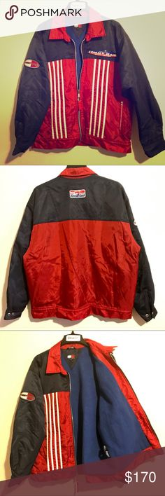 """Vintage 90s Tommy Jeans Colorblock Striped Jacket Tommy Jeans Sport Edition Jacket. A rare find and in excellent condition. Durable on the outside, soft and lush with its fleece lining on the inside. There is a hidden hood with a button closure in the collar as well. Stripes, colorblocking, vintage, 90s, and Tommy all wrapped into one.     Men's size Medium.   Measurements (taken flat): chest – 25.5"""" length – 29"""" Tommy Hilfiger Jackets & Coats"""