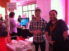 "Daniel Goetz, founder of @GoodPop, stops for a pic with Omar Gallaga, an Austin, Texas tech guru who influenced one of the day's most popular treats, ""Gallaga's Austin Original Fruit Pop""  #AskSugarRush"